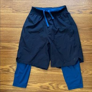 Russel 2-in-1 shorts w/ built in compression tight